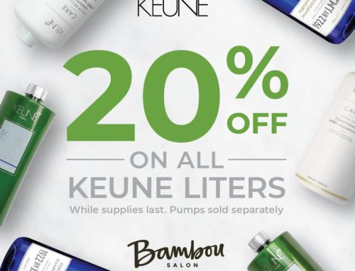 Keune Liter Sale – 20% Off